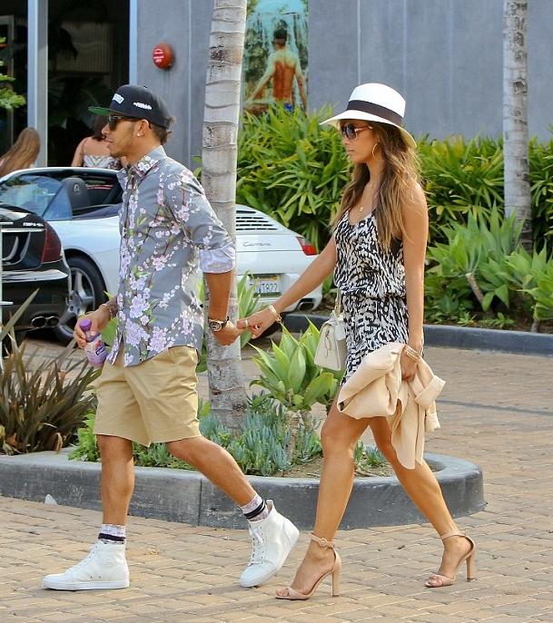 Lewis-Hamilton-Dolce-Gabbana-Floral-Shirt-Christian-Louboutin-sneakers2